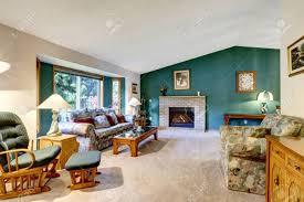 Classic American Design Elegant White And Green Living Room Classic American Design