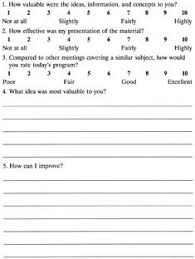 This Is A Course Evaluation Form To Be Filled At The End Of The ...