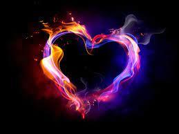 Fire heart, Heart wallpaper, Love wallpaper