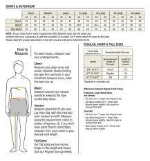 Carhartt Size Chart Mens Mens Carhartt Clothing Size Chart Goods Store Online