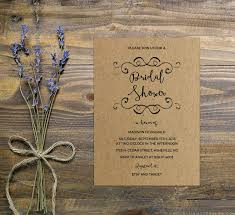 instantly this simple rustic diy bridal shower invitation which prints beautifully on kraft card