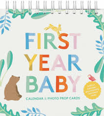 First Year Baby Calendar Photo Prop Cards Abrams Chronicle Books