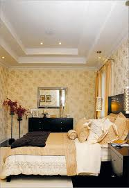 delightful white gypsum as materials of bedroom try ceiling designs in modern master bed decor idea