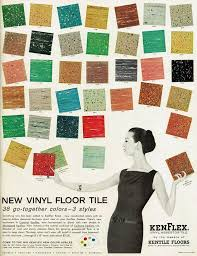 advertisement from the 1950 s for vinyl asbestos tile flooring