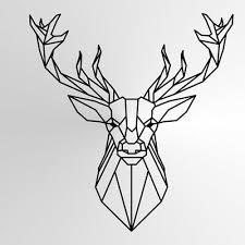 geometric deer big sizes reusable