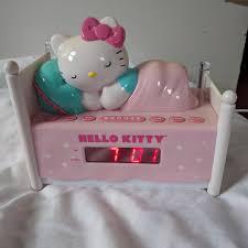 Hello Kitty Digital Am Fm Clock Radio With Night Light Hello Kitty Sleepy Alarm Clock Radio 100 Working Depop