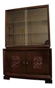 James Mont Mid-Century Asian Ming-Style Mahogany Display/China Cabinet |  Chairish