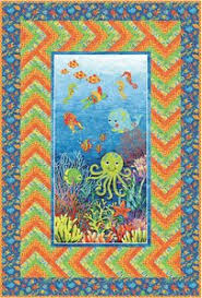 Free Downloadable Quilt Patterns & Undersea Adventure Free Quilt Pattern by Northcott at Bear Creek Quilting  Company.
