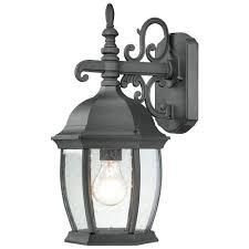 thomas lighting covington 1 light black outdoor wall mount lantern