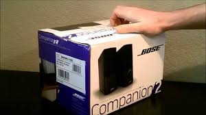 bose companion 2 speakers. bose companion 2 series iii multimedia speakers - unboxing, sound test, and review youtube