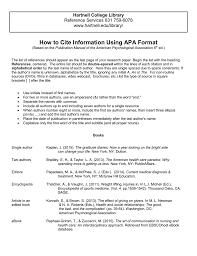 How To Cite Information Using Apa Format Hartnell College Library