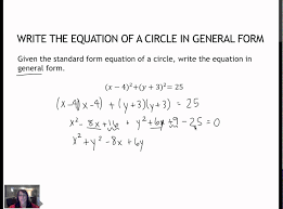37 write the general form of an equation of circle 2 2