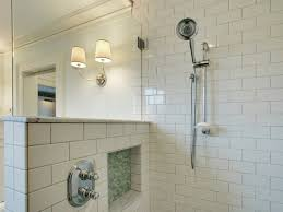 subway tile shower surround view full size