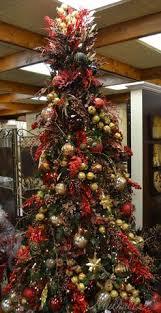 Red & Chocolate themed Christmas Tree
