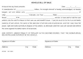 Standard Bill Of Sale For Boat Blank Bill Of Sale Template