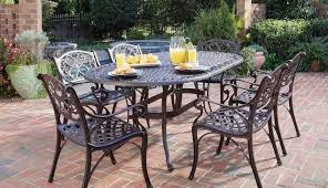 modern black under cast aluminium outdoor furniture chairs dining aluminum table set sets frame patio round