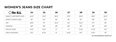 So Ill Holds Womens Denim Size Chart Page 1 Created