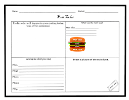 Exit Ticket Template Exit Ticket Template Cyberuse 4