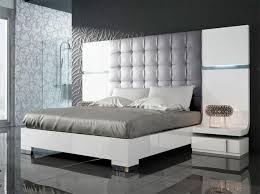 designer bed furniture. fenicia modern gloss white bed with 2 bedside cabinets and lighting see more at designer furniture