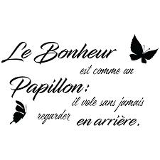 Sticker Citation Le Bonheur Est Comme Un Papillon Stickers