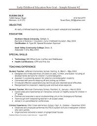Preschool Resume Template Creative Education Resume In Resume Examples For Preschool Teachers 10