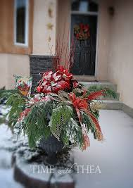5-Step Instructions: How To Design A Christmas Outdoor Floral Arrangement ~  Detailed photo