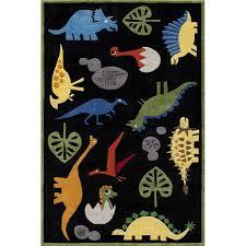 4 x 6 small dinosaur black area rug whimsy