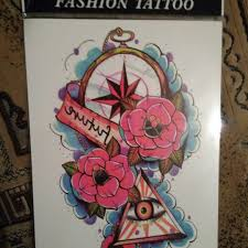 временная татуировка цветные флеш тату