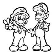 Kleurplaat Mario Superstar Saga