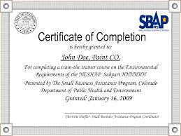 Sample Certification Of Completion Trend Sample Certification Letter