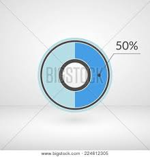50 Percent Pie Chart 50 Percent Pie Chart Vector Photo Free Trial Bigstock