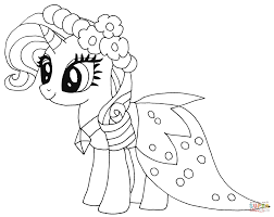 Small Picture Rarity Pony coloring page Free Printable Coloring Pages