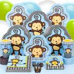 Little Boy Monkey Deluxe Box Birthday Party Supplies: 1st Themes: