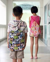 sew drawstring backpack