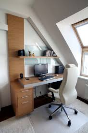 minimalist office design. creative loft home office design with floating desk minimalist