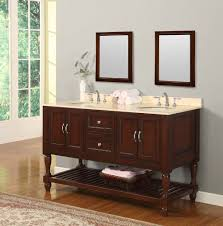 60 inch bathroom vanity cabinet. Interesting Designs With Cream Bathroom Vanity : Agreeable Design Ideas Using Rectangular Brown Mirrors And 60 Inch Cabinet