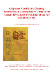 Read Japanese Candlestick Charting Techniques A