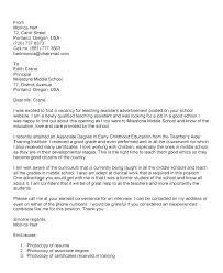 Graduate Teacher Cover Letter Cover Letter For Graduate Teaching