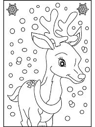 Kleurplaat Rendier In De Sneeuw Kleurplatennl