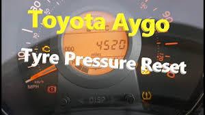 Toyota Aygo Tyre Pressure Reset