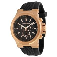 10 best black and gold watches for men the watch blog michael kors mk8184 47mm rose gold case black rubber mineral men s watch