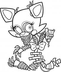 How To Draw Chibi Mangle From Five Nights At Freddys 2 Step By Step