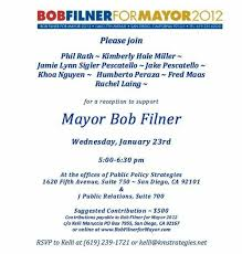 political fundraiser invite lobbyist for billionaire s balboa park makeover throwing filner
