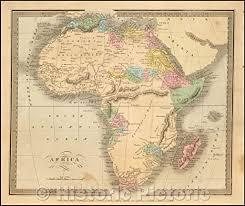 Amazon.com: Historic Map - Africa, 1836, David Hugh Burr v2 53in x ...