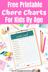 How To Make A Responsibility Chart Fun Age Appropriate Chore Charts For Kids Tips Chore