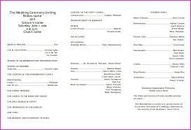 Catholic Church Wedding Ceremony Program Awesome Wedding Program