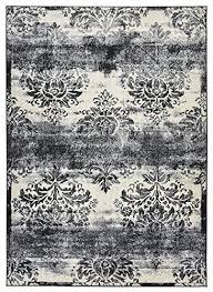 studio collection vintage french damask design contemporary modern area rug rugs 3 diffe color options damask ivory grey 8 x 10