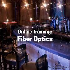 attirant training fiber optics in concrete countertops recording