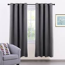 grey bedroom curtains. window treatment eyelet blackout curtain - pony dance thermal insulated curtains room darkening for bedroom / home decoration grey i