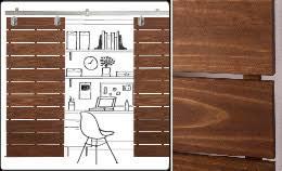 wood slat sliding door